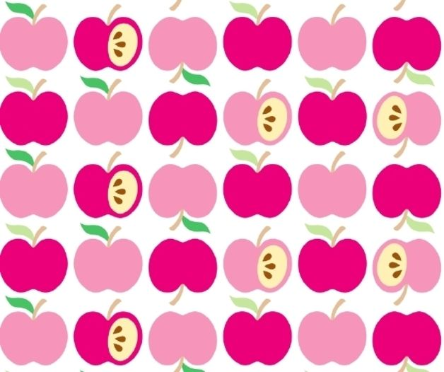 "Bio-Interlock ""An apple a day"" rosa von PinkPeppa auf DaWanda.com"