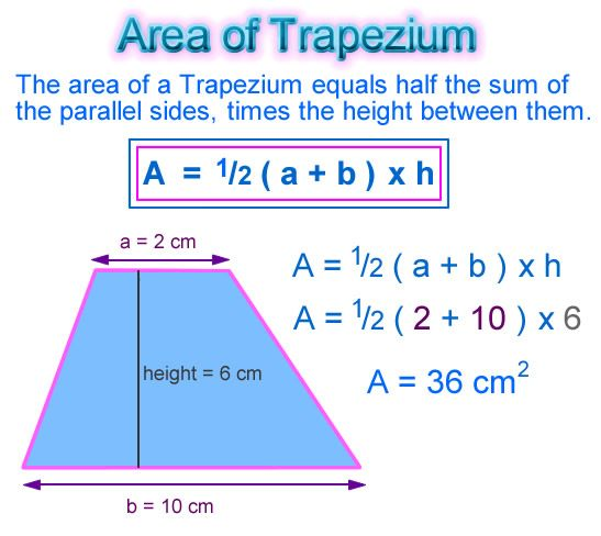 Trapezium area math concepts pinterest trapezium area math trapezium area ccuart Choice Image