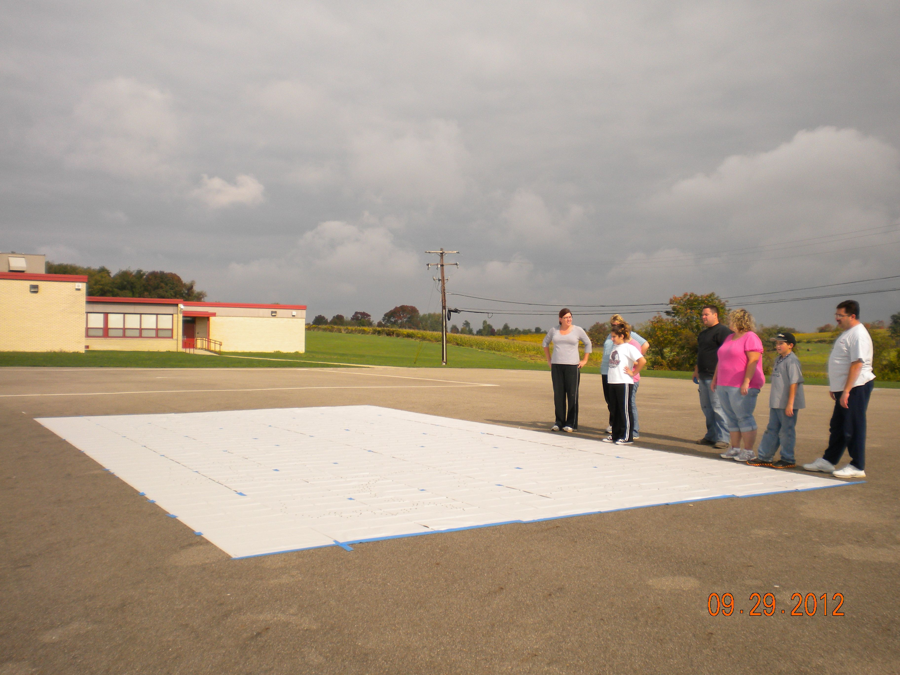 Paint day at Menallen Elementary School in Uniontown, PA