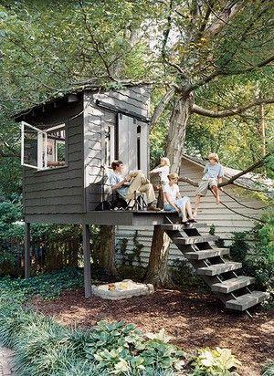 best treehouse ideas and fun playhouse ideas The Handmade Home