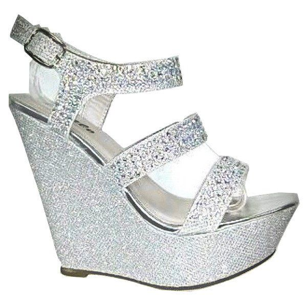 f0b5a2ad7fc9 EMMA - BLING WEDGE - SILVER IRIDESCENT - 3.5 INCH HEEL
