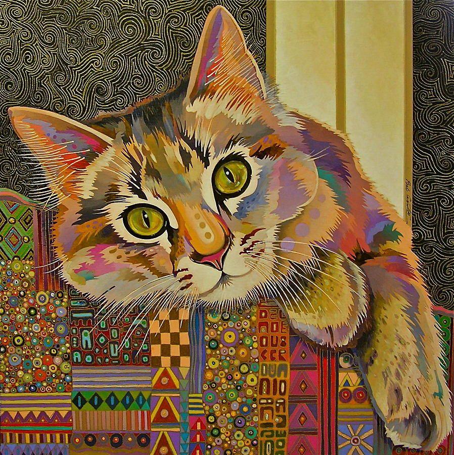 kitten cats cat art cat painting scratch board modern art ORIGINAL FRAMED and MATTED realistic art cat gift cat