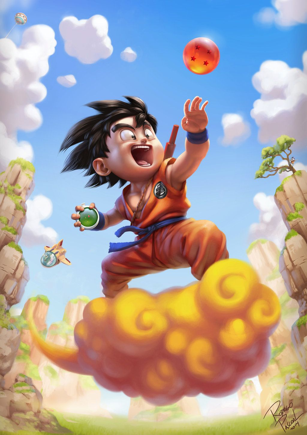 This Poster Series Dragon Ball Z Goku Shown In Their Flying Fields
