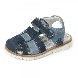 76b2395b Sandalias niños piel Garvalin tiras marino y azul azafata Cangrejeras, Ropa  Nueva, Zapatos Para