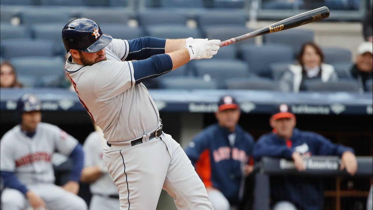Astros rookie Tyler White won player of the week in the American Leage after hitting .556 with three home runs and nine runs batted in.