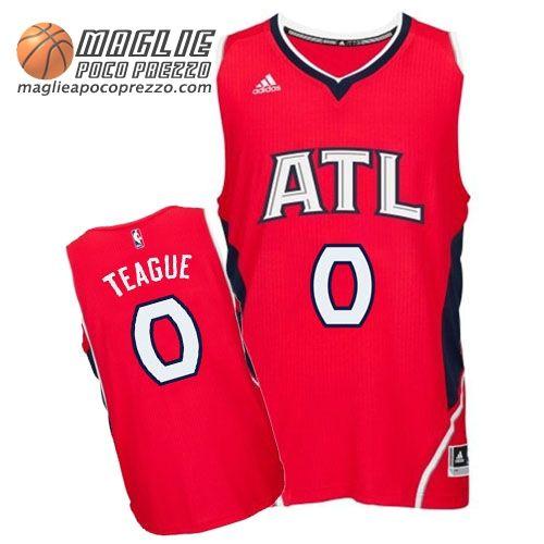 prodotto caldo reputazione affidabile massimo stile Canotte Nba Swingman Teague #0 Rosso Atlanta Hawks | maglie ...