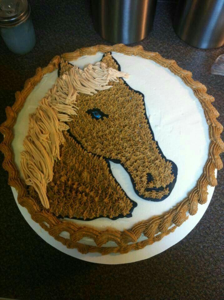 Pastel Decorado Con Un Caballo Palomino Birthday Cake
