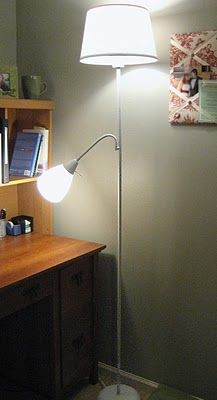 Floor Lamp With Spray Paint