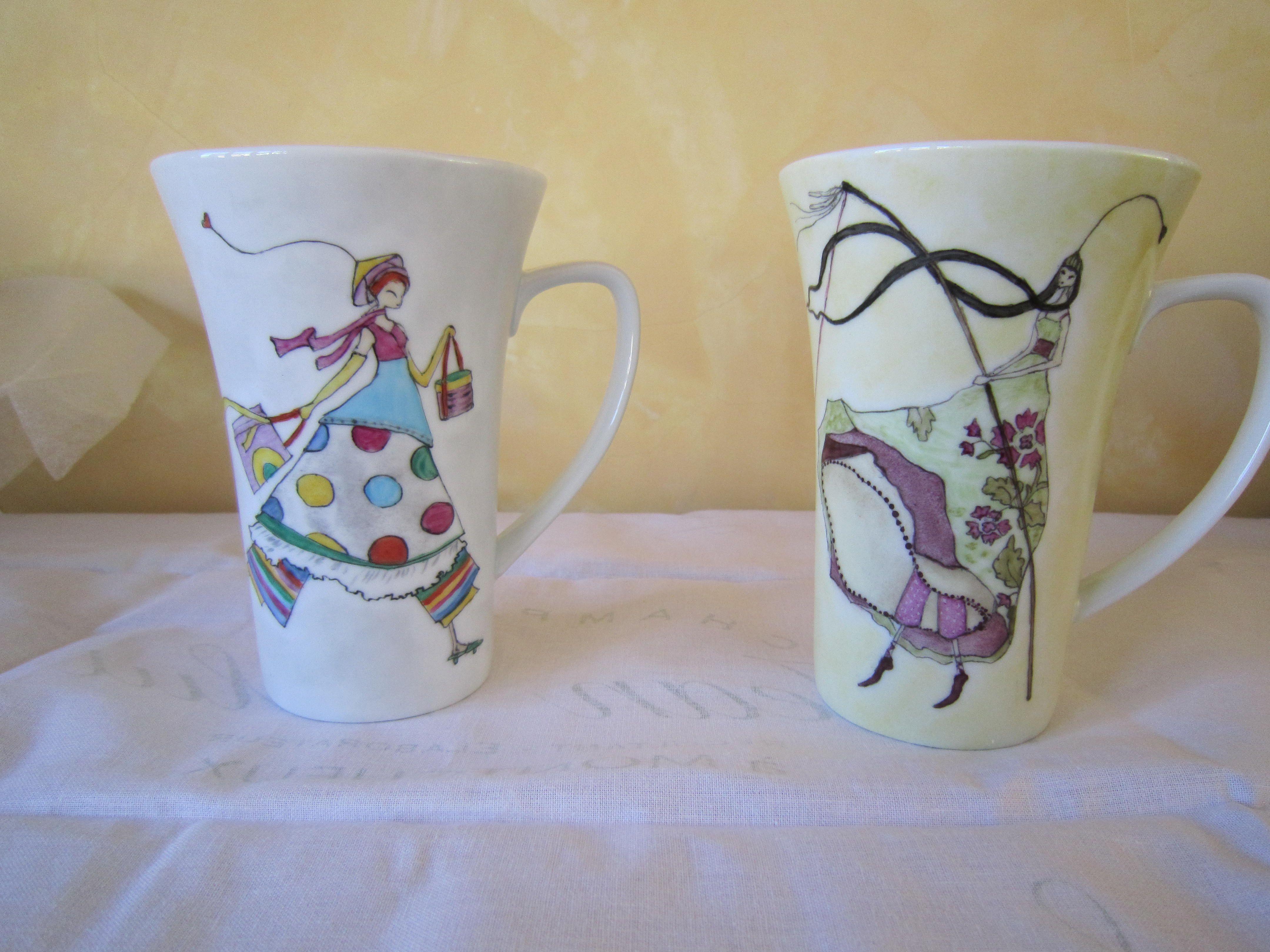 Lin Van Art – Café et thé Porcelain painting, handmade pottery Porcelain peint a la main