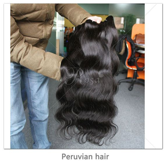 Unprocessed Peruvian virgin hair body wave hair  by guitarchina, $155.00