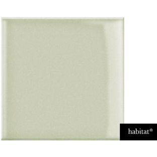 Habitat Gloss Tiles - Oyster Green 150x150 Pack of 44 from Homebase.co.uk