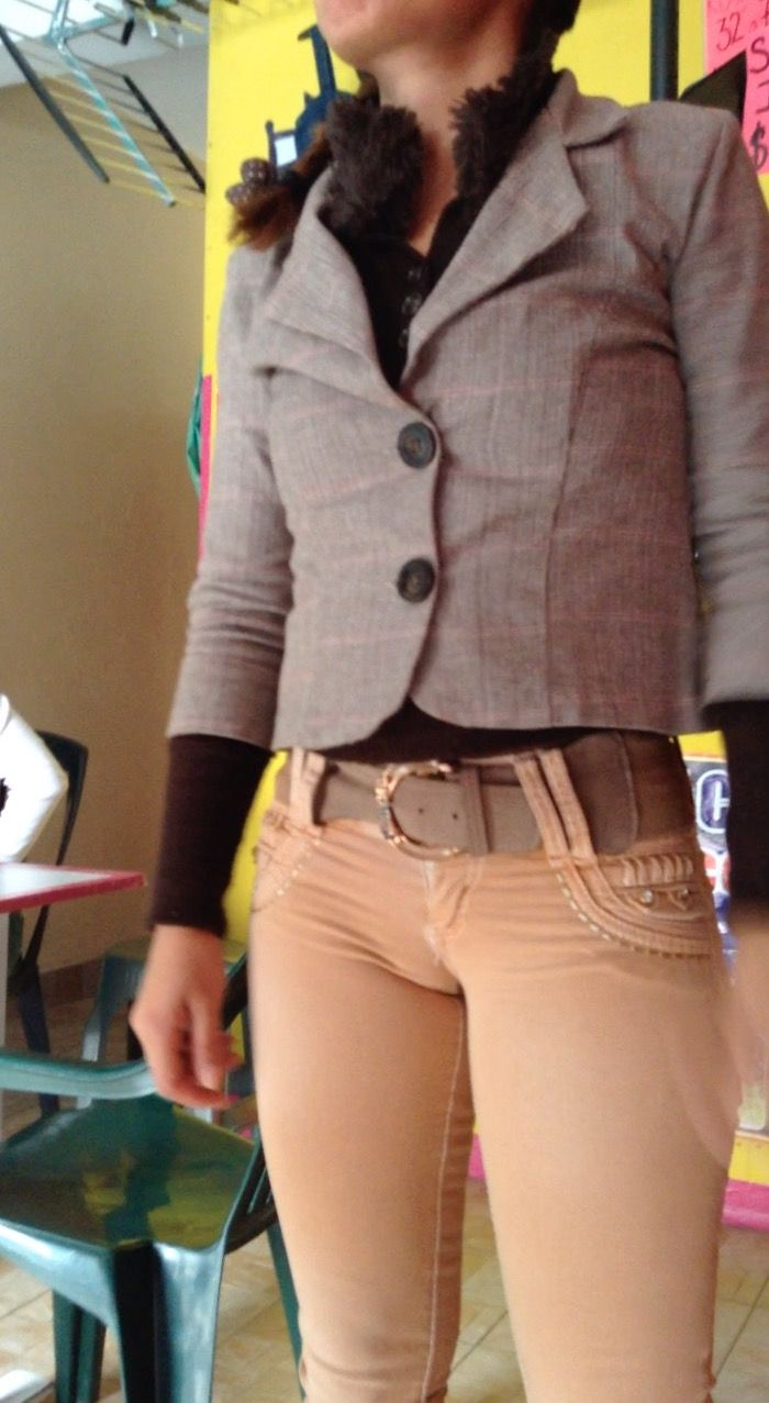 Camel jeans pants tight toe