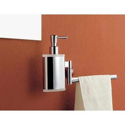 Toscanaluce by Nameeks Towel Bar with Soap Dispenser Finish: Light Blue