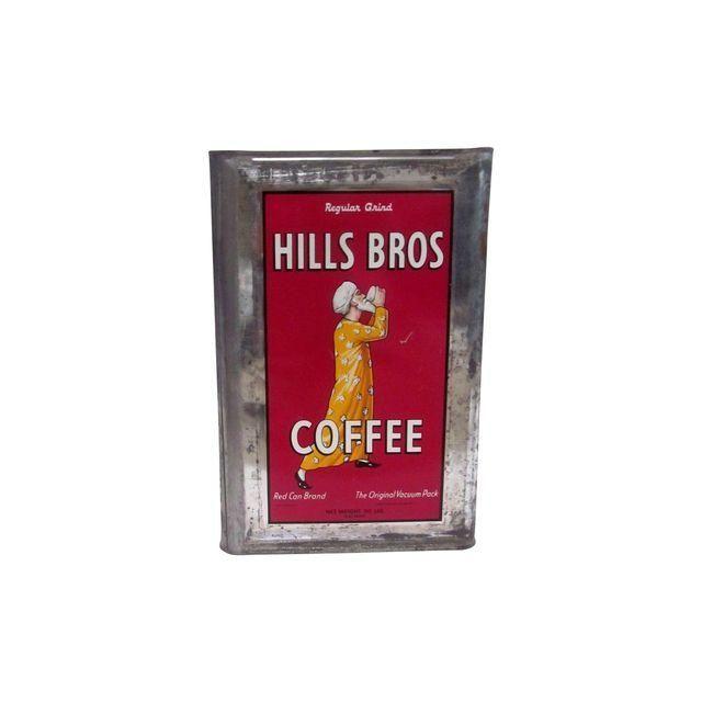 Vintage HIlls Bros Coffee Advertising Tin 20 lbs
