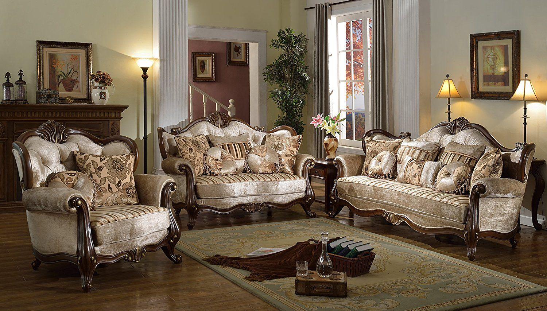 Best Amazon Com Contemporáneo Sofá Mcferran Home Muebles 3 Piezas Sf8700 Kitchen … Antique 640 x 480