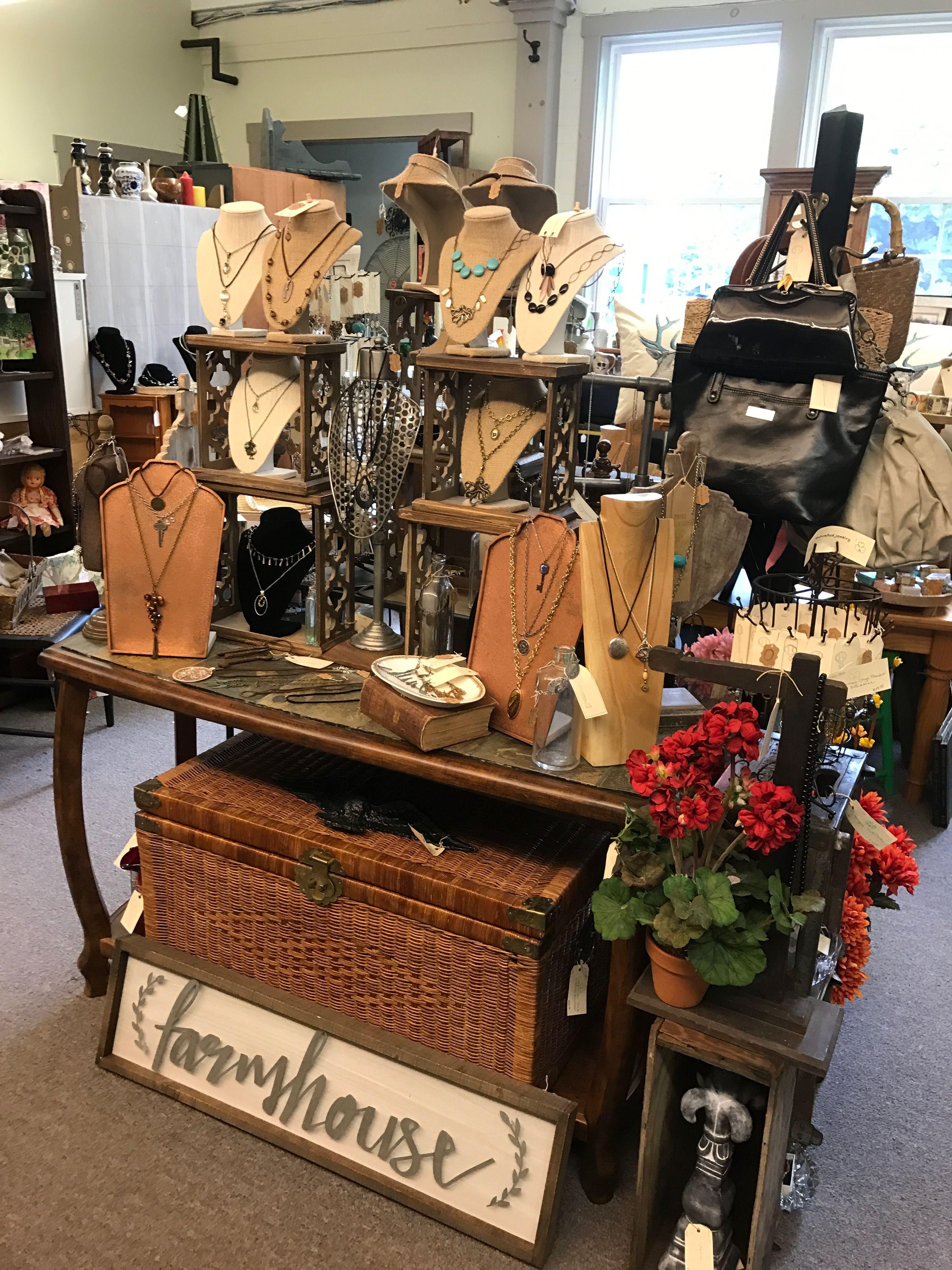 Window display ideas for jewelry  handcrafted jewelry shamrock vintage  bernat antiques uxbridge
