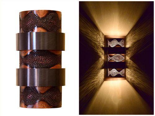 Stacked Ziggurat Wall Sconce Light