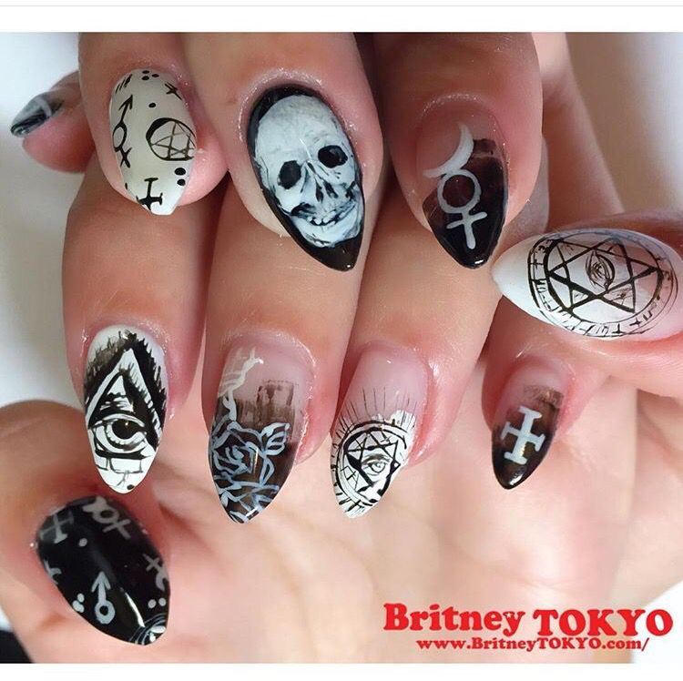 Occult Nails By Britneytokyo
