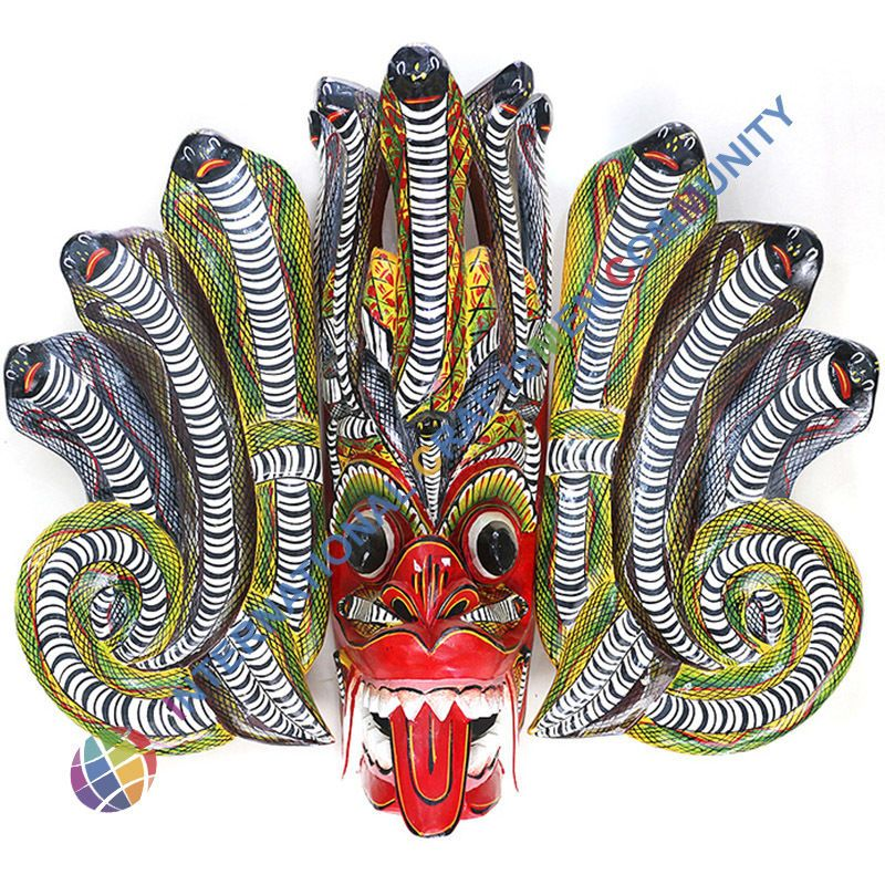 Wall Mask Decor Best Handmade Traditional Sri Lanka Mask Naga Raksha Home Talisman Design Decoration