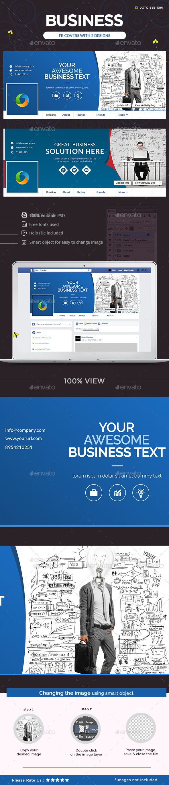 Business Facebook Cover   Cover template and Facebook cover template