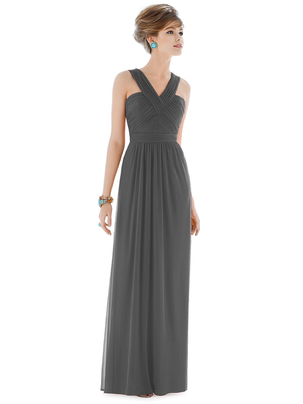 Rental alfred sung d678 bridesmaid dress in charcoal in chiffon rental alfred sung d678 bridesmaid dress in charcoal in chiffon ombrellifo Images