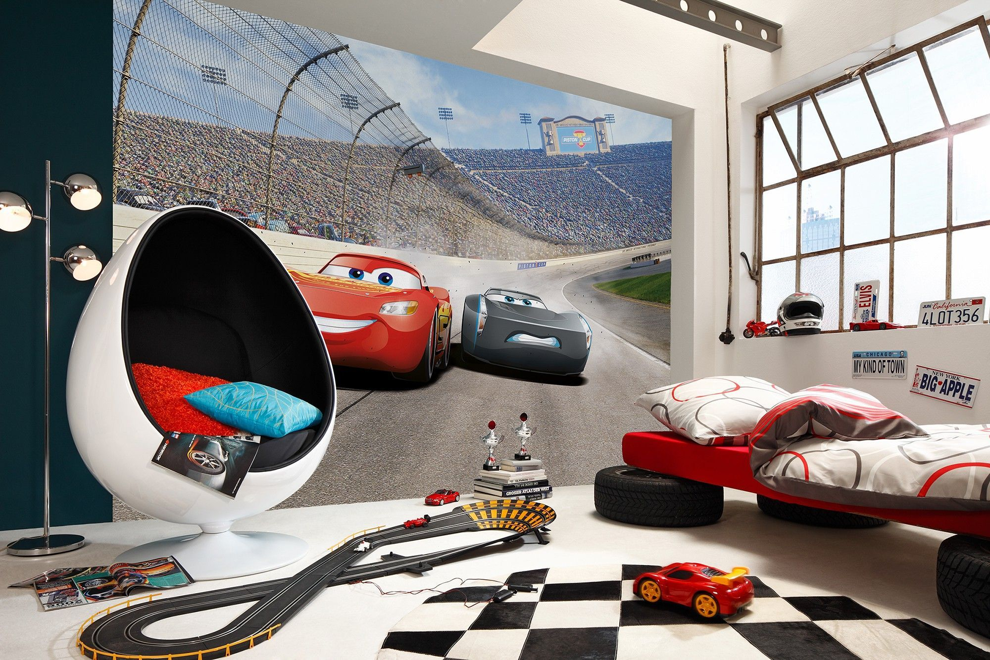 Cameretta cars ~ Cars disney wall mural wallpaper buy it now boys room wall