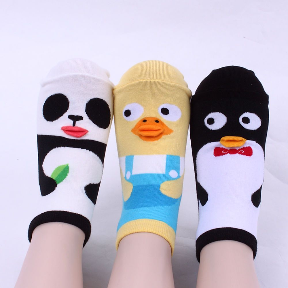 LIP ANIMAL 3pairs(3colors)=1pack women intype girl made in KOREA SOCKS[AUFGTC] #ggorangnae
