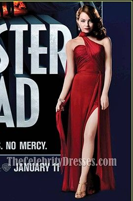 Emma Stone Red Prom Dress in the movie Gangster Squad - TheCelebrityDresses 65278d6e0