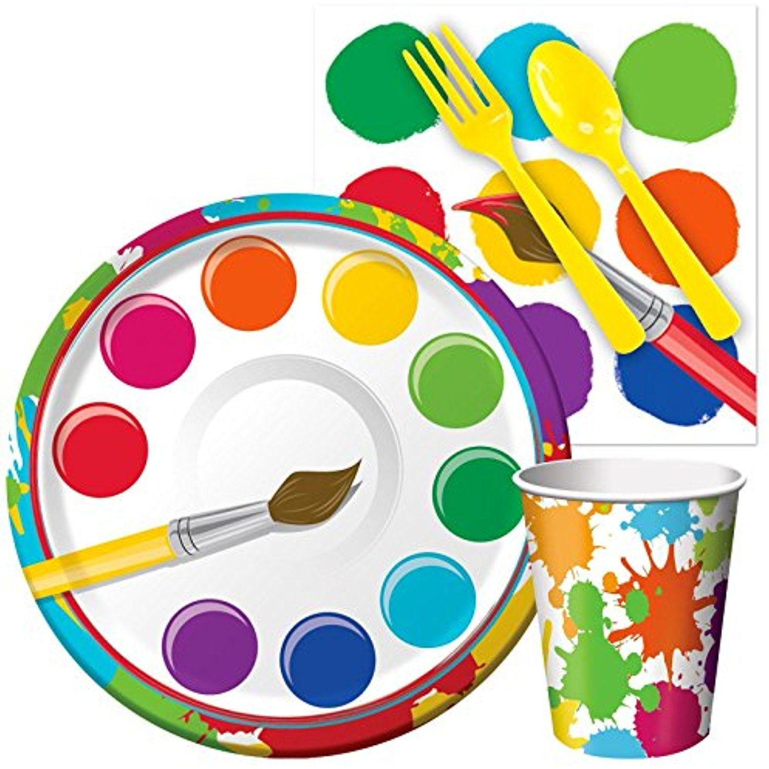Birthday Express 256562 Art Party Snack Party Pack You Can Find More Details By Visiting The Image Link Art Party Crayola Birthday Party Art Party Supplies