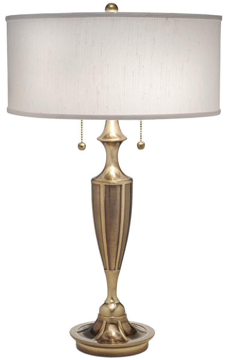 New Stiffel Lamps 2 Light Table Lamp Burnished Br Tl K4023 K3058 Bb