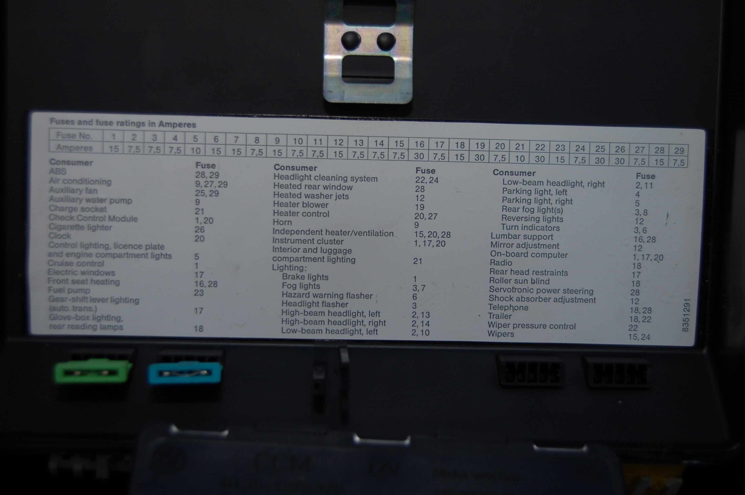 Bmw E34 Fuse Distribution Box
