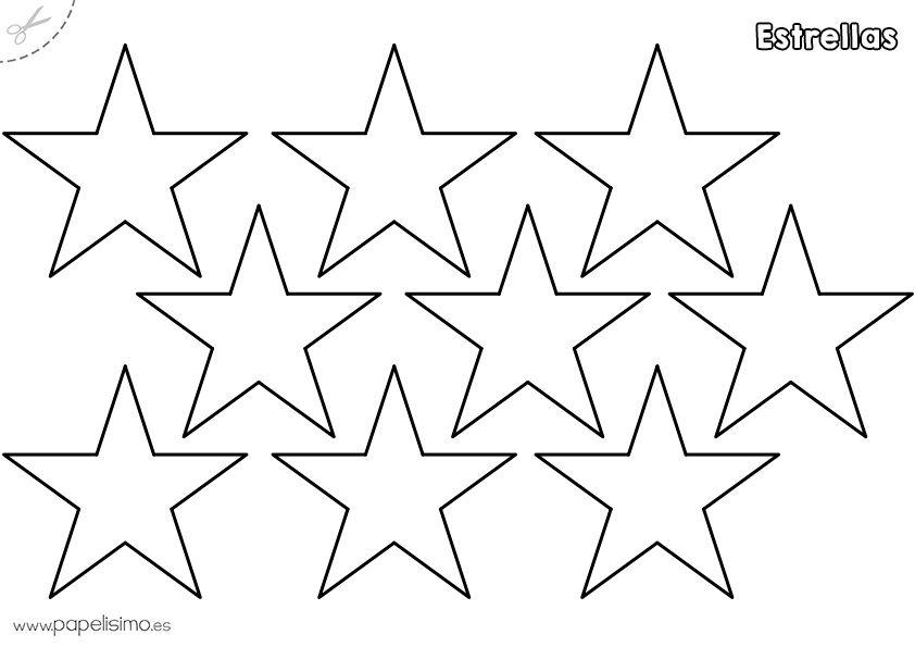 Estrellas para imprimir, colorear y recortar 4 | estrellas
