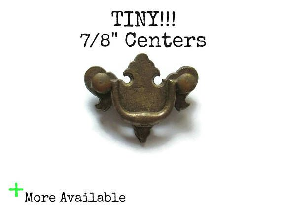 Tiny Chippendale Drawer Pull 7 8 Centers Dollhouse Furniture