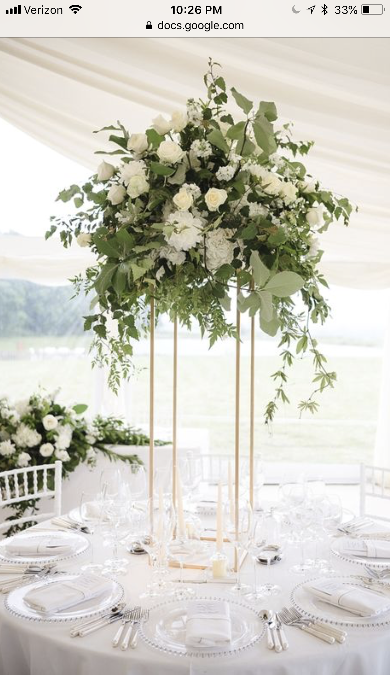 Round Table Centerpiece Inspiration | Frystock Wedding 7.27.2019 ...