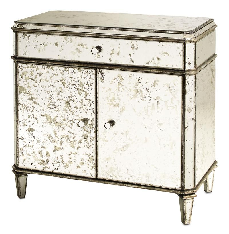 Hollywood Regency Antique Mirror Nightstand With Images