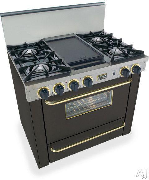 Fivestar 36 Freestanding Gas Range Black Ttn3107sw Oven Cleaning Broiler Oven Range Cooker