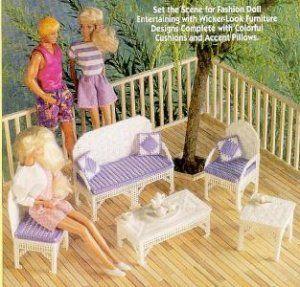 Barbie Fashion Doll Patio Furniture Plastic Canvas Pattern The Needlecraft