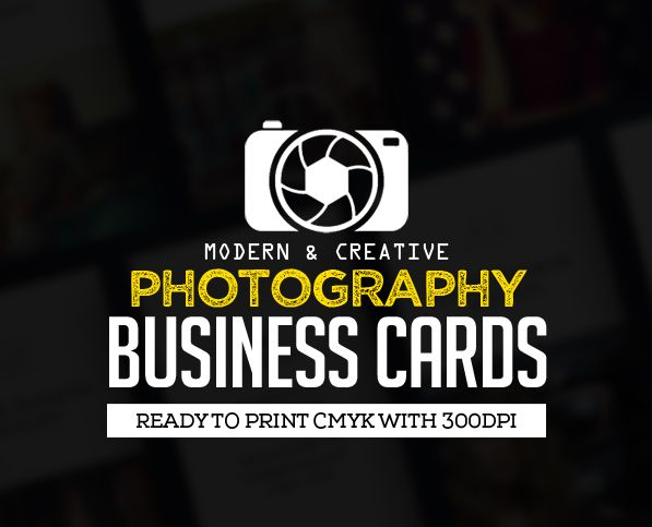 creative photography business card psd templates business card