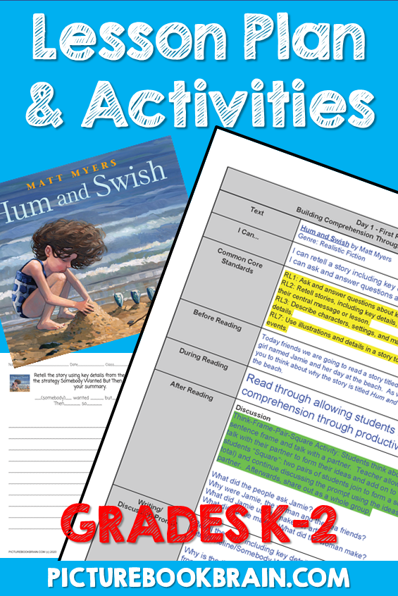 Hum And Swish By Matt Myers Lesson Plan And Activities In 2020 Read Alouds Kindergarten Kindergarten Reading Lessons Interactive Read Aloud Lessons