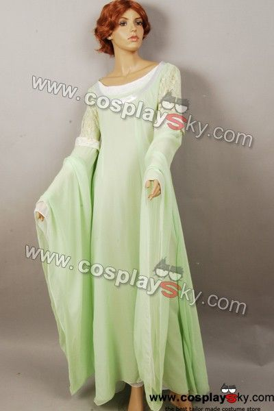 The Lord Of The Rings Arwen Light Green Gown Dress Costume If You Want To Know More Movie Costume Please Visit Http Green Gown Dress Green Gown Gowns Dresses