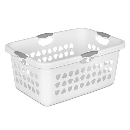 Home White Laundry Basket Collapsible Laundry Basket