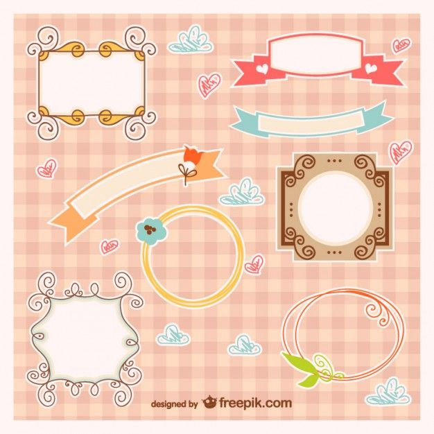 Baby frames and banners vector http://www.freepik.com/index.php?goto=74&idfoto=722486