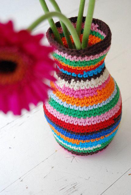 vase cover   Häkeln, Handarbeiten und Stricken