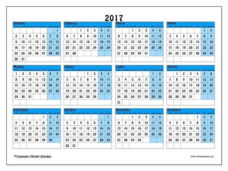 Settimane Calendario.Calendari Da Stampare Calendari Calendario Stampabile