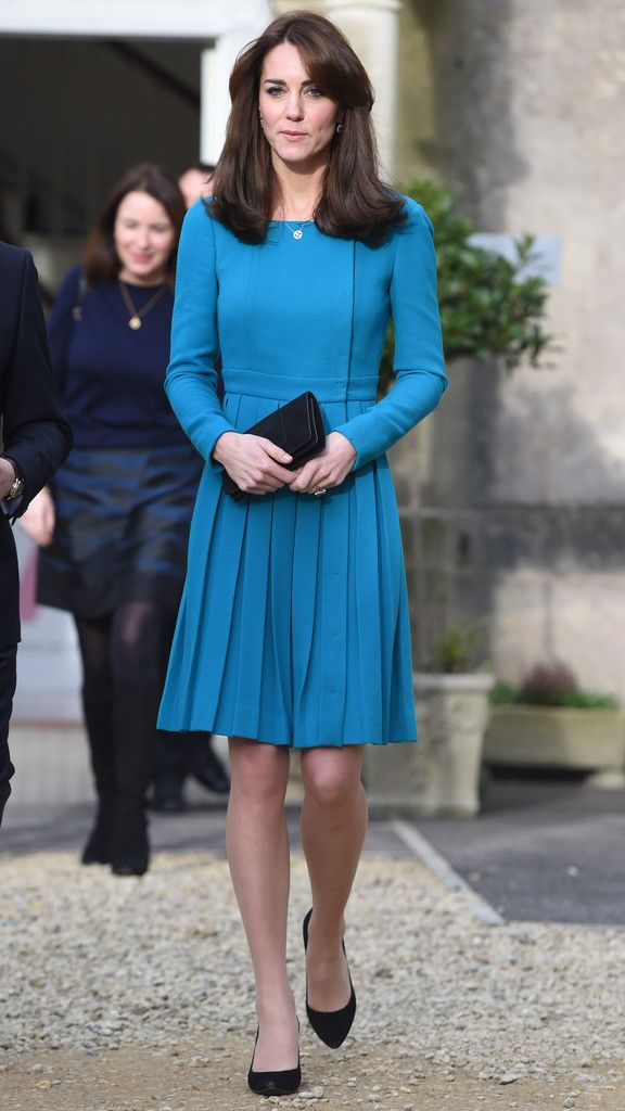Kate Middleton in Emilia Wickstead - The Duchess Of Cambridge Visits Action On Addiction - December 10, 2015