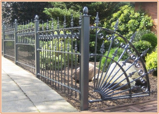 Immoderate Wrought Iron Fence Price Per Foot Metal Garden Fencing Metal Fence Panels Metal Garden Fencing Panels