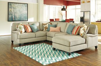 Kerridon Putty Sectional  Woodstock Furniture Outlet