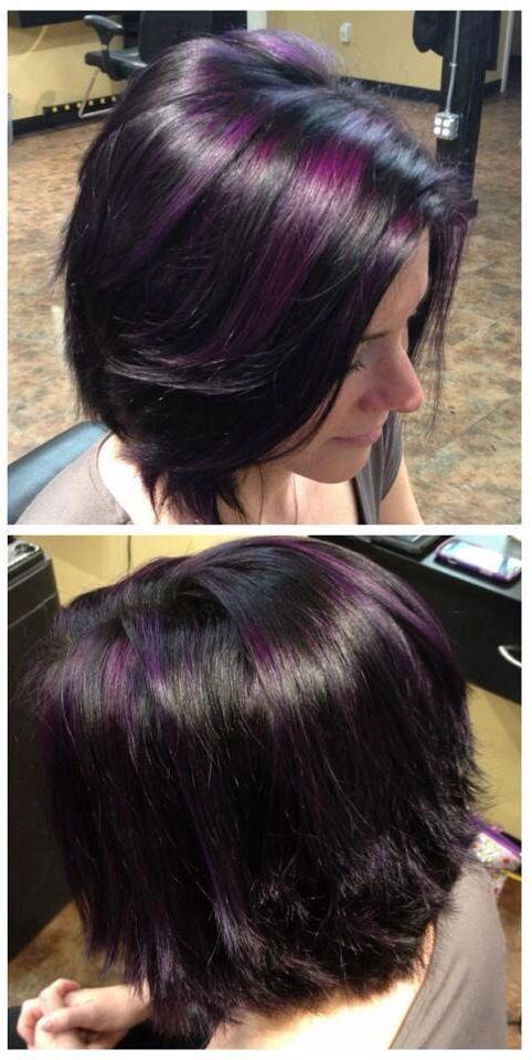 Purple highlights de kleur