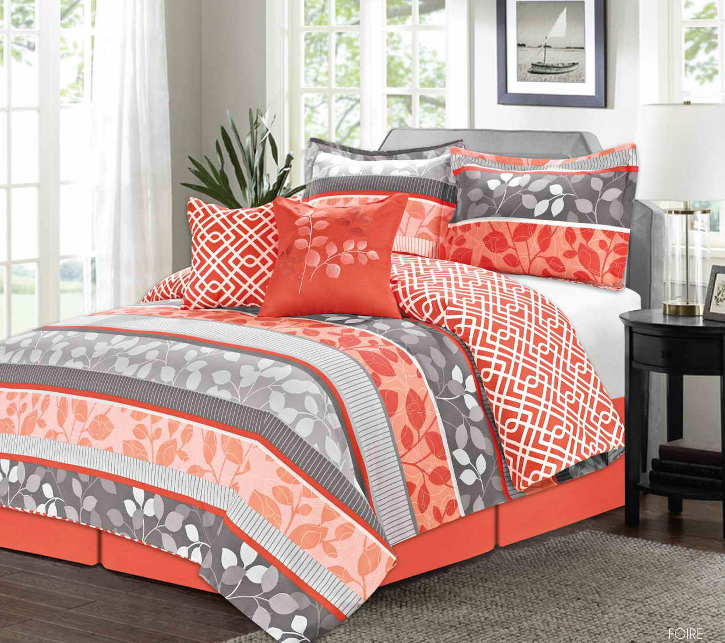 Beautiful Ocean Coral forter Set For Gorgeous Sea Theme Bedroom
