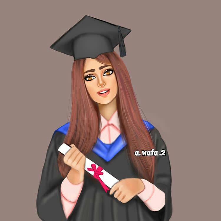 خريجه Beautiful Girl Drawing Art Girl Graduation Photoshoot